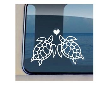 Turtle Love Decal Hawaiian  Sealife Sticker - 22
