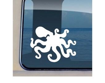 Octopus Decal Hawaiian Sealife Fish Stickers - 525
