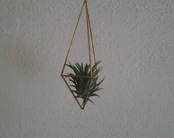 Handmade Brass Himmeli  Airplant  Hanger- Medium