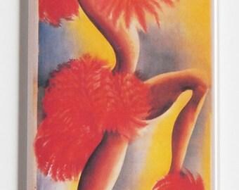 Josephine Baker Poster Fridge Magnet (1.5 x 4.5 inches)