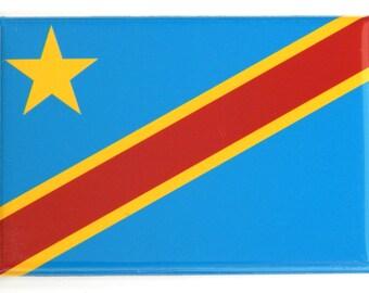 Flag of Congo Kinshasa Fridge Magnet (2 x 3 inches)