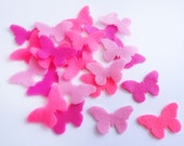 Felt butterflies, set of 18 pieces