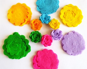 Felt Flower Shapes Unassembled 4