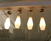 Mid Century Modern, vintage, Yugoslavian ceiling light, hanging lamps set of 4