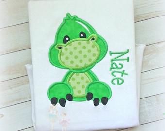 Boys Dinosaur shirt - personalized dinosaur shirt - green dinosaur shirt - dinosaur birthday shirt - personalized dino shirt