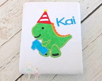 Dinosaur birthday shirt - 1st birthday dinosaur shirt - first birthday shirt - boys dino birthday shirt - personalized dinosaur shirt