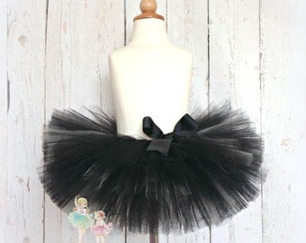 Black Tutu- Halloween Tutu- Super Full and Fluffy- Custom handmade