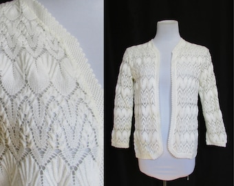 Vienna Lace Cardigan Sweater Vintage 60s S/M