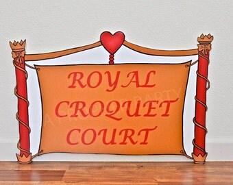 Royal Croquet Court, Alice in Wonderland, Wonderland Party, Wonderland Decor, Wonderland Birthday, Royal Wedding Tea Party