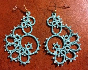 Elegant Tatted Lace Earrings
