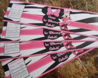 Minnie Mouse Water Bottle Labels-Minnie Mouse Juice Box Labels-Minnie Mouse Birthday-Minnie Mouse Decoration