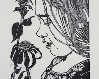 Woodblock Print:  Summer