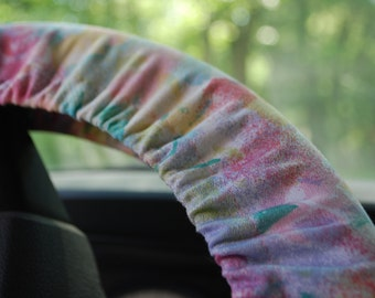 Steering Wheel Cover Colorful paint strokes patterned.