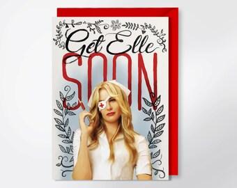 Get Well Card - Get Elle Soon - Kill Bill Greeting Card - Pop Culture Greeting Card - Funny Get Well Card - Quentin Tarantino Card