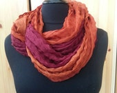Ombre Infinity Scarf, Fall scarf, One of a Kind, SALE
