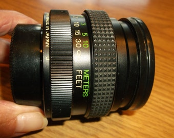 Vivitar 50mm Camera Lens, Vintage, Bought New in 1970's,  Perfect condition, Has Both Covers, Very Useful Historical Vintage, Camera Lens