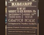 1920s themed invite