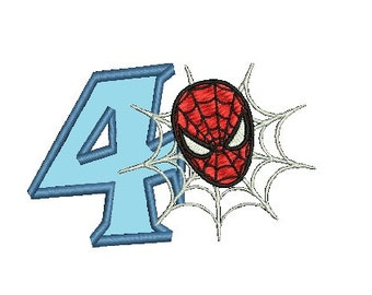 Spiderman Embroidery Applique Design, Applique Number (243) Instant Download