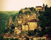 France Photography Dordogne, Fine Art Travel Photo, Signed Art Print, Town of Rocamadour - A Long Time Ago (in THIS galaxy)