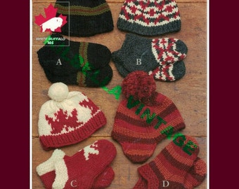 White Buffalo Wool Cowichan Hat Toque Slippers Socks Knitting Pattern Instant Download on Etsy