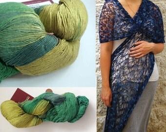 SALE 15% OFF Maharashtra Silk Lace yarn by Euro Yarns  Pure SILK #8 / 100g / 3.52oz