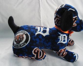 Detroit Tiger stuffed sports dog