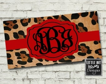 License Plate Animal Print Personalized Car License Plate Custom