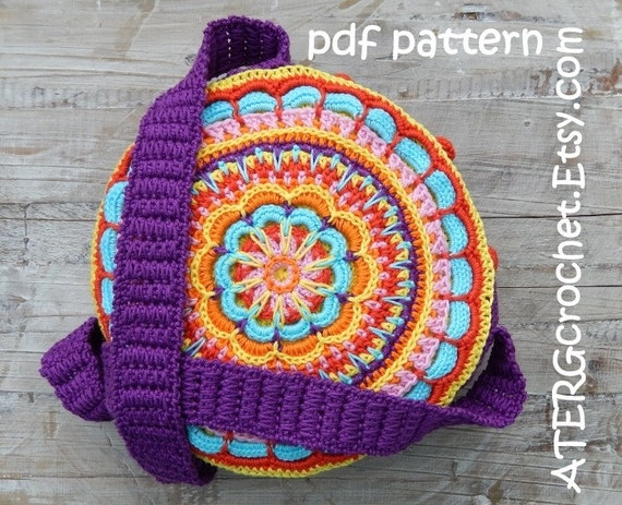 Crochet Boho Bag : Crochet pattern BOHO BAG by ATERGcrochet by ATERGcrochet on Etsy