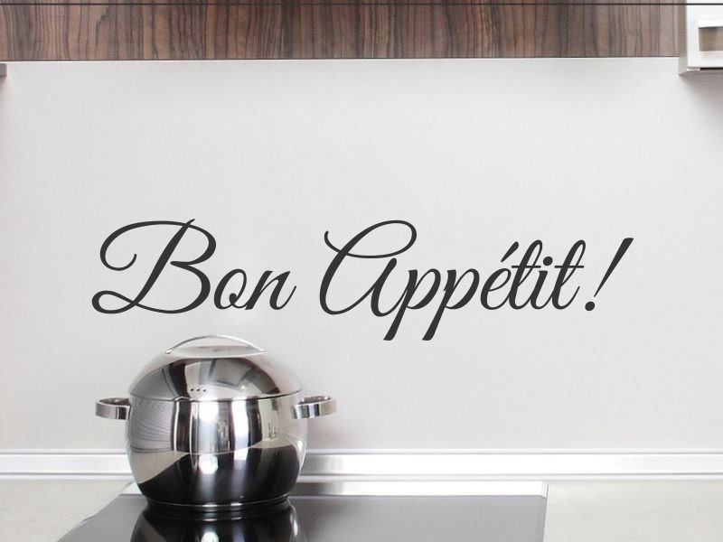 Bon Appetit Wall Decal Kitchen Sticker Dining Room