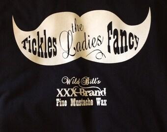 Wild Bill's Mustache Wax T-shirt, Large