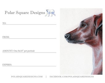 "Gift Certificate for an 8x10"" Fine Art Portrait"