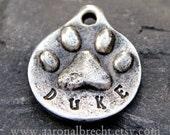 Personalized Dog Tag - Pet ID Tag - Pet Tag - Dog ID Tag - PawPrint Handmade Custom