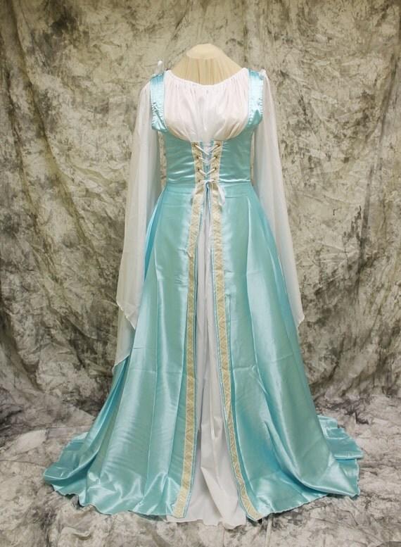 light blue renaissance costumehalloween costumemedieval