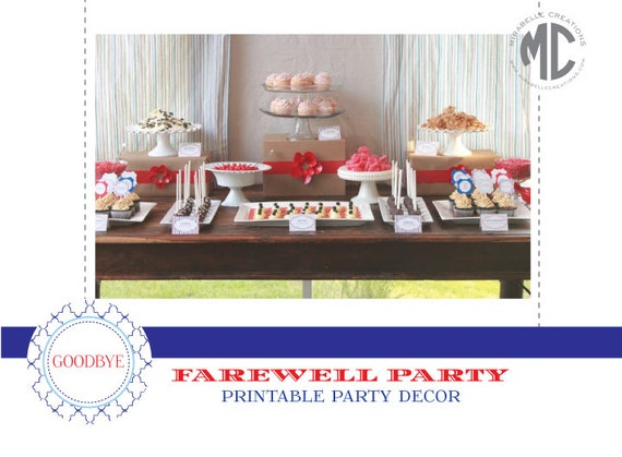 GOING AWAY PARTY, Moving Party Printables by Mirabelle Creations