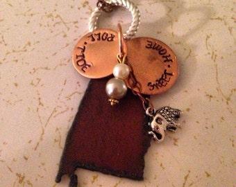 Alabama/Auburn State necklaces