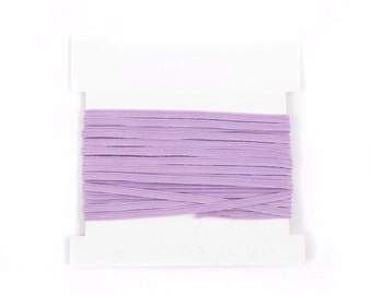 Stretch Elastic 1/8th inch Skinny Elastic for making headbands  - 5 or 10 or 20 yard bundles - LAVENDER