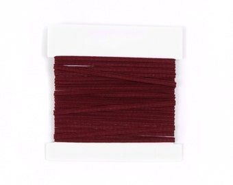 Elastic, 1/4th inch flat elastic for DIY Making Baby Headbands, skinny elastic - 5 or 10 yard bundles - WINE