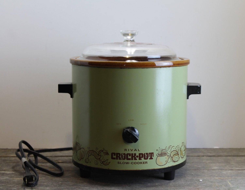 Vintage Rival Crock Pot Avocado Green By Mybarn On Etsy