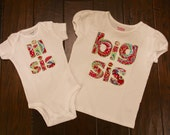 Set of 2 Big Sister and Little Sister shirts