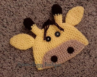 Baby Giraffe Hat Crochet - Newborn NB Beanie Boy Girl Costume Halloween  Costume Photo Prop Christmas Gift Winter Outfit