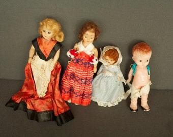 Vintage Lot of Dolls, Marked Duchess Doll, Nancy Ann Story Book Doll, 1950s,  Knickerbocker Doll
