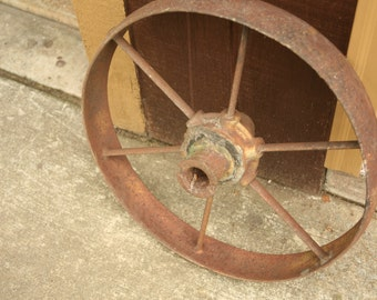 steel wheel, wagon wheel, garden decor, photography prop