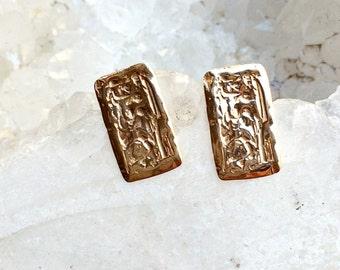 Handmade 14k Gold Earrings
