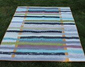 Lap Size Quilt Pattern, PDF, Life is a Highway Quilt, Jellyroll Friendly, patchwork
