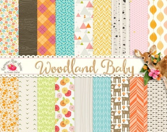 Woodland Baby Paper Set 2