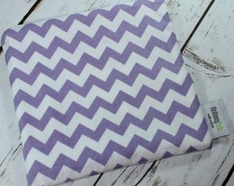 Food Safe Reusable Sandwich Bag in Purple Chevron