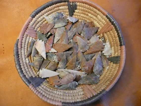 Arrowhead Pendants Wholesale bulk lot of 10 for Jewelry or Crafts