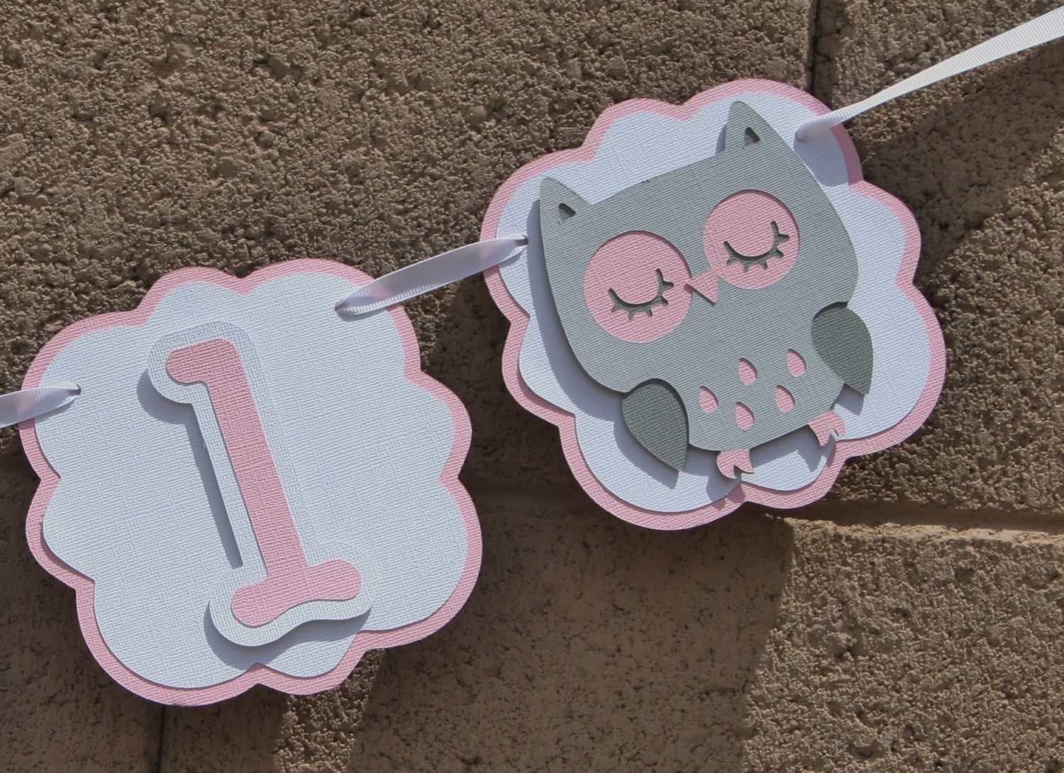 owl baby shower pink grey and white celebration new baby