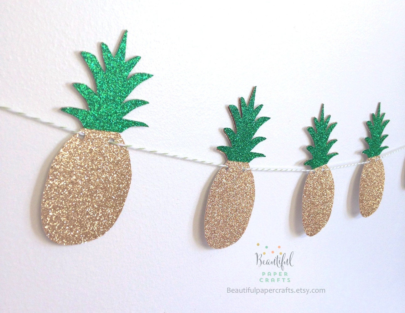 Pineapple garland summer tropical fruit garland aloha for Ananas dekoration