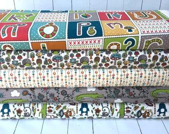 Picnic Whimsy - Fat Quarter Bundle - Birch Fabrics - 5 Prints